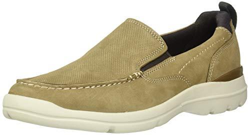 Rockport Men's City Edge Slip On Shoe Sneaker, Taupe Nubuck, 9.5 W US