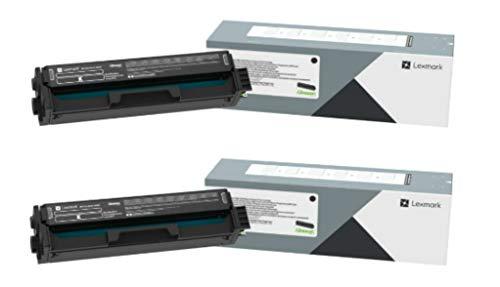 Lexmark High Yield Toner Cartridge Set, Black, 2 Pack