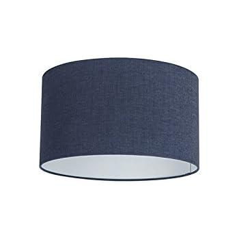 QAZQA Moderno Di cotone poliestere Paralume in tessuto blu scuro 353520, RotondoCilindro Paralume per lampade a sospensione,Paralume per lampade a