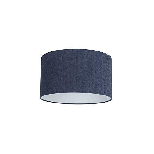 QAZQA Moderno Algodón y poliéster Pantalla tela azul oscuro 35/35/20, Redonda/Cilíndrica Pantalla lámpara colgante,Pantalla lámpara de pie