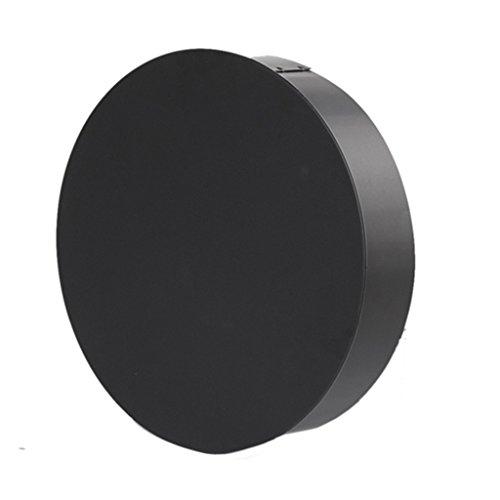 Ø 130 mm - Ofenrohr Blindkappe Schwarz
