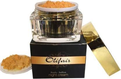 Olifair Radiant Effect Pearls Saffron Night Cream(Over Night Multi corrective cream) (50 g)