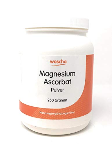 woscha Magnesium Ascorbat 250g Pulver (vegan)