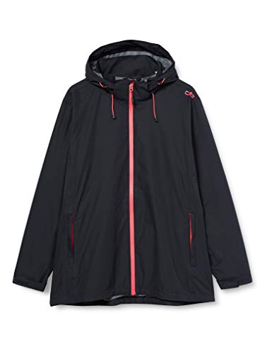 CMP Damen Waterproof Jacket with Detachable Hood Jacke, Anthracite-Gloss, D50