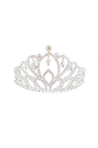 Zinmuwa Bandeau Crystal Diadème Pour Mariage État Bal Bridal Anniversaire White One Size