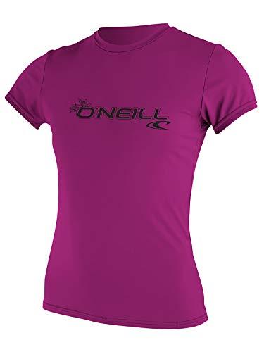 O'NEILL Combinaison de plongée pour Femme Basic Skins UPF 50 + Soleil à Manches Courtes pour, Femme, 3547-Fox Pink-XLarge, Fox Pink, x-Large