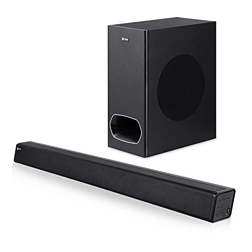 Zoook Rocker Studio One 200 Watt Peak Power 2.1 Channel Wireless Bluetooth Soundbar (Black)