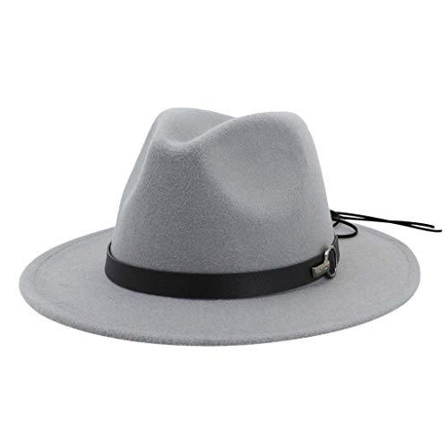 SEEGOU Damen Herren Unisex Gute Qualität Hüte mit Gürtel Festival Mützen Frühling Winter Luxus Hochzeit Prom Caps