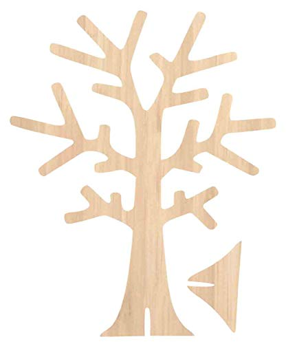 Arbre à Bijoux en bois - 18 x 22 x 0,3 cm