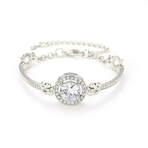 Bracelet Mode Frauen/Damen Roségold Farbe Klare Kristall Armbänder & Armreifen Schmuck Geschenke B1139-S