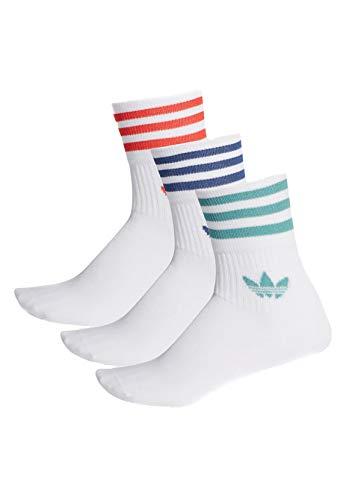 adidas Originals Socken Dreierpack MID CUT CREW FM0639 Weiss, Size:31/34