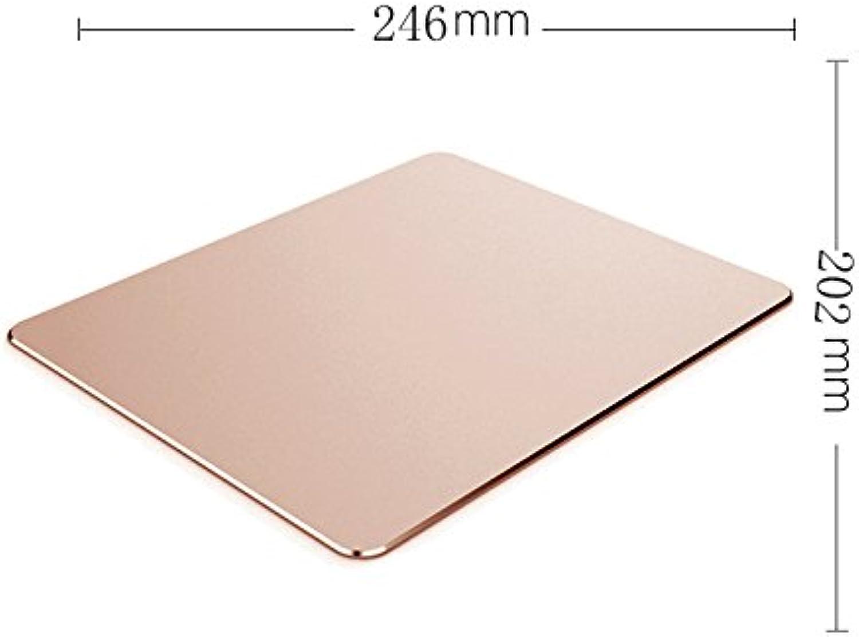 YQOOO Mauspad Aluminium Büro Spiel Hause, Rosa Gold 246X202Mm B07CBSSC5C   | Neueste Technologie