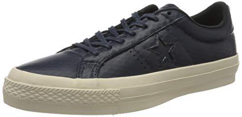 Converse Unisex-Erwachsene Cons One Star Leather OX Sneaker, Schwarz Schwarz Schwarz, 41 EU