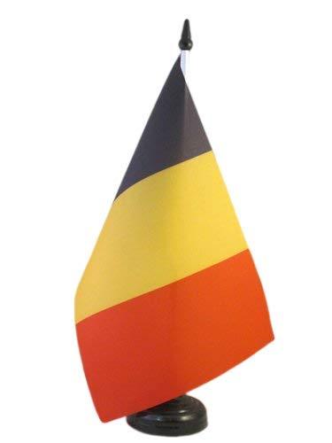 AZ FLAG Bandera de Mesa de BÉLGICA 21x14cm - BANDERINA de DESPACHO Belga 14 x 21 cm