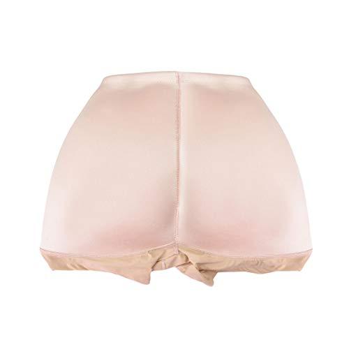 Bragas de aumento de cadera con almohadilla de espuma de cintura media para mujeres - Negro, tono de piel,Flesh,XXL