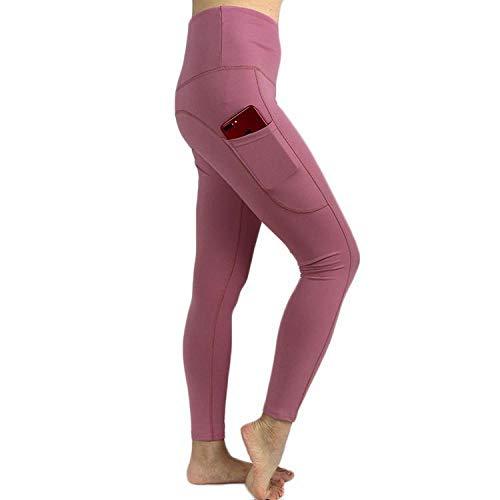 Vitila Gym Yoga Pantalon Niña Gym Yoga Slim Rosado Leggings para Yoga para Correr Entrenamiento