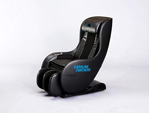 Review NFL Electric Full Body Shiatsu Massage Chair Foot Roller Zero Gravity Wheat (Carolina Panther...