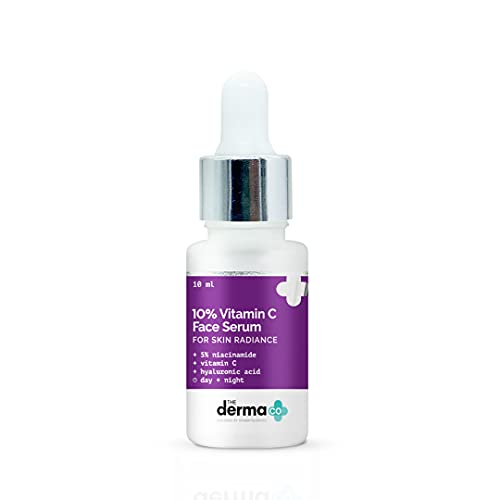 The Derma Co 10% Vitamin C Face Serum with Vitamin C, 5% Niacinamide & Hyaluronic Acid for Skin Radiance - 10ml(dermaco)