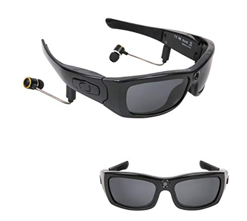 Gafas Inteligentes Estero Bluetooth Cámara de Bluetooth Gafas de Gran Angular de 120 Grados 1080P Gafas de Sol Deportivas al Aire Libre HD Cámara Deportiva Gafas