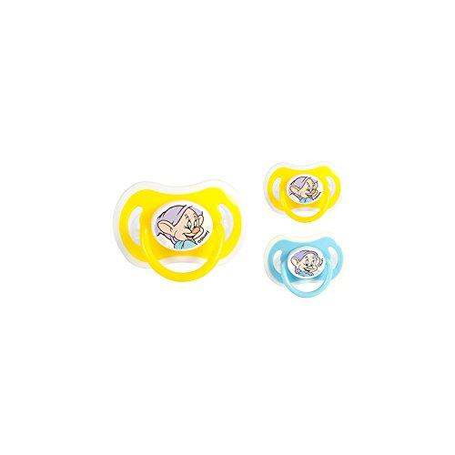 lulabi 8118500 Set 6 sucettes silicone orthodontiques Disney nains 3 m chambre accessoires enfant