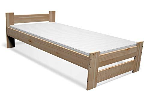 Best For You Doppelbett Futonbett Seniorenbett erhöhtes Bett aus 100% Naturholz mit Matratze und Lattenrost viele Größen (90x200 cm)
