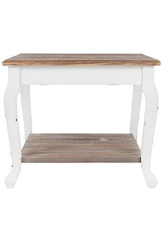Elbmöbel salontafel in wit bruin van hout in landelijke stijl groot