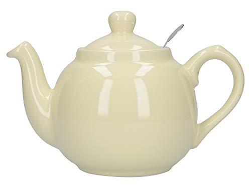 London Pottery Teekanne mit Filter, für 2 Tassen, Grün, Keramik, elfenbeinfarben, 2 Cup