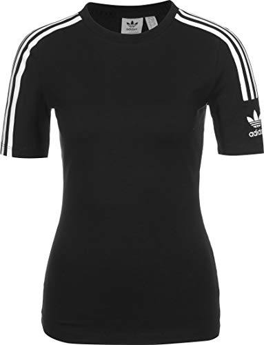 adidas Tight tee Camiseta de Manga Corta, Mujer, Negro (Black/White), 36