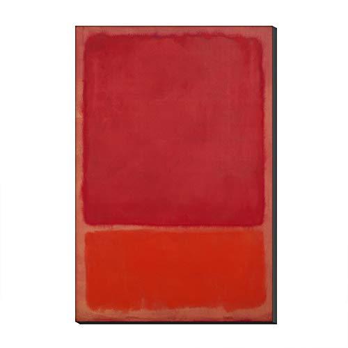 Five-Seller Abstrakte Leinwand Berühmte Gemälde Farbkombination Von Mark Rothko Wandkunst Kunstreproduktion Gedruckt Auf Leinwand Moderne Kunstwerke Für Inneneinrichtungen (Kein Rahmen,50 x 70 cm)