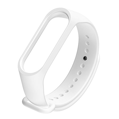 Leiouser - Correa de reloj compatible con Xiao-mi Mi Band 3 4 correa deportiva de silicona para reloj inteligente