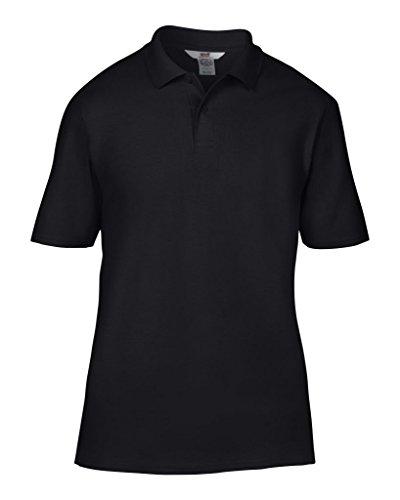 Anvil Poloshirt aus Baumwolle mit Doppel-Piqué (bestickt) Gr. XXL, Schwarz
