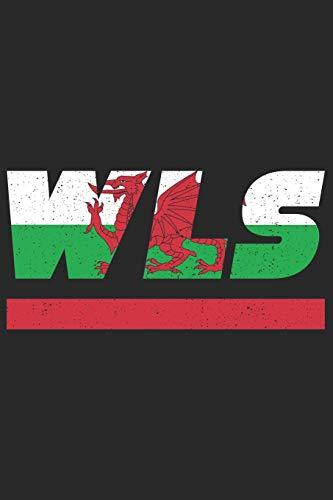 WLS: Wales Tagesplaner mit 120 Seiten in weiß. Organizer auch als Terminkalender, Kalender oder Planer mit der walisischen Flagge verwendbar