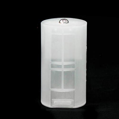 4 x AA auf D Batterie Adapter Weiße Tasche