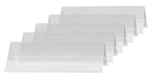 SIGEL TA132 Soporte de sobremesa, forma de tejado, Plástico duro, para 190x60 mm, 5 unds. ✅