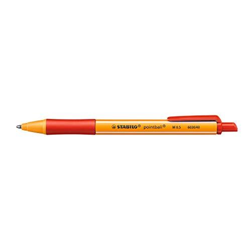 Druck-Kugelschreiber - STABILO pointball - Einzelstift - rot