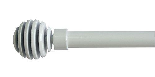 Trim&Tram Soho - Juego de Barra y Soporte Extensible, Color Blanco, Blanco, 110 à 210 cm