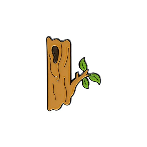 Emaille-Anstecknadel mit Waldtieren, Specht, Eichhörnchen, Affe, Nüsse, Bananenbaum, niedliche Baby-Brosche