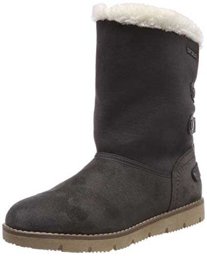 TOM TAILOR Damen 5893101 Schlupfstiefel, Grau (Coal 00013), 38 EU