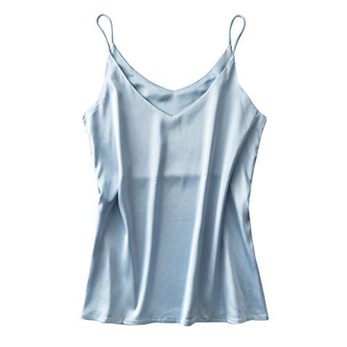 Sonnena Camisones para Mujer Sexy Camiseta Verano Transpirable Correas Ropa de Dormir Chaleco Elegante Ropa Interior Mujer Sexy Top