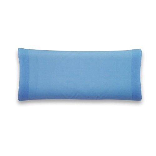 Sancarlos - Funda de almohada para cama, 100% Algodón percal, Color azul, Cama de 150 cm