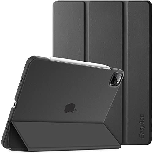 EasyAcc Hülle Kompatibel mit iPad Pro 11 2021 (3. Generation), Ultra Dünn Transluzent Matt Rückseite Abdeckung mit Auto aufwachen Schlaf Funktion, Schwarz