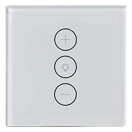 Beada Control de la aplicación WiFi sin niveles, interruptor regulador de intensidad de luz estándar europeo, control con Alexa Assistant.