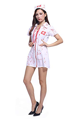 CosplayLife Enfermera sangrienta Unisex-Adulto Medio Multicolor