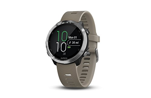 Garmin Forerunner 645, GPS Running Watch with Garmin Pay Contactless Payments and Wrist-based Heart Rate, Sandstone