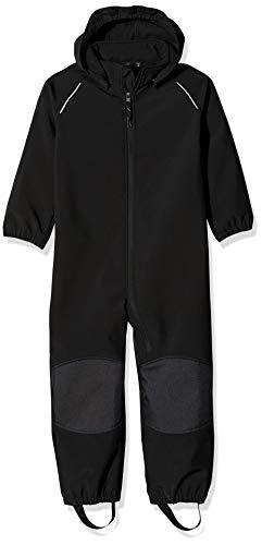 Name IT NOS Baby-Jungen Regenhose NMNALFA Suit SOLID NOOS, Schwarz (Black), (Herstellergröße: 80)