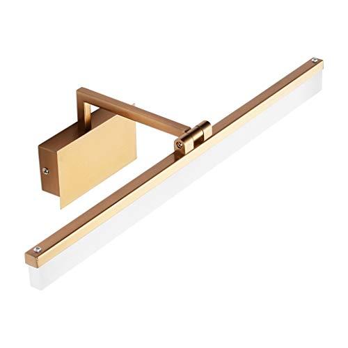 MJJ- Espejo de Baño con Iluminación LED Moderna simple de oro Led delantera de espejo luz creativa a prueba de humedad a prueba de agua Cuarto de baño WC Espejo de baño Faro 【Nivel de energía A +】