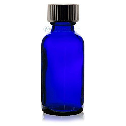 Baltimore Mall Fees free!! 1 Oz 30 ml BLUE Boston Round Glass of w Cap 12 Bottle Pack -