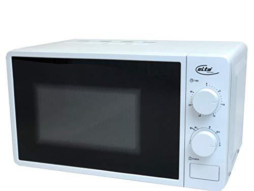 Elta Mikrowelle 20L MW-700.1 (230V, 700W, 6 Leistungsstufen, Abtaufunktion, Zeitregler, akustisches Endsignal) weiß lackiert, Farbe:weiss
