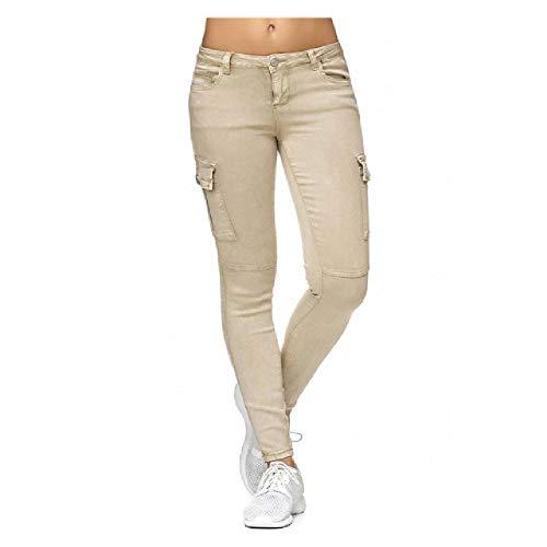 N\P Las mujeres Jeans de cintura alta pantalones flacos de las mujeres pantalones vaqueros casuales pantalones de mezclilla mujeres cargo lápiz