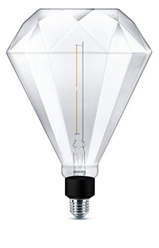 Philips Diamond Giant 35W, E27, warmwit (2000 Kelvin), 400 lumen, decoratieve lamp, dimbare LED-lamp, glas, 4 W, helder